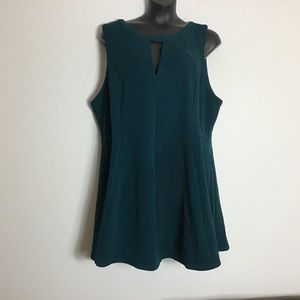 NWT Torrid size 6 teal fit and flare dress